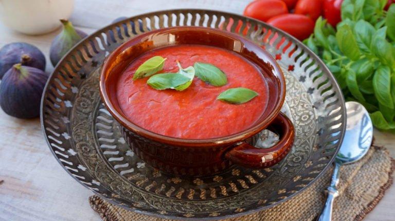 zupa krem z pieczonych pomidorow